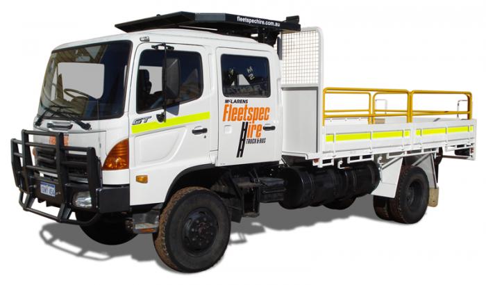 8 Ton 4x4 Crew Cab Mining Truck Hire with 250kg Crane Perth WA