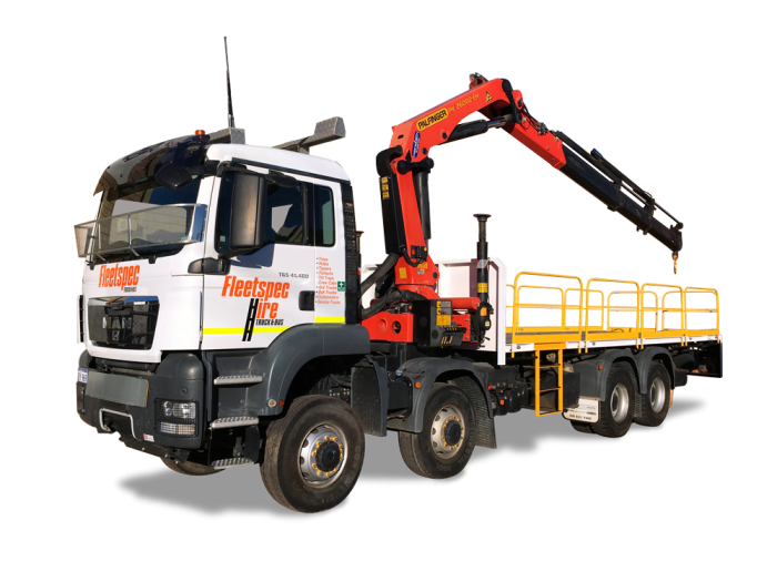 23 ton 8x8 Tray Truck with Crane